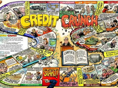 Credit Crunch game For The Economist 2008
