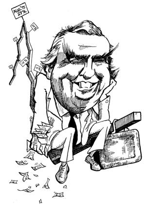 Denis Healel Kal's first cartoon