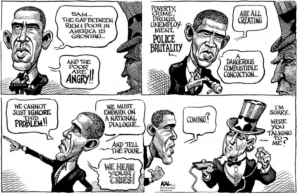 Obama Income Inequality cartoon